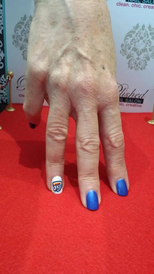 okc thunder nails