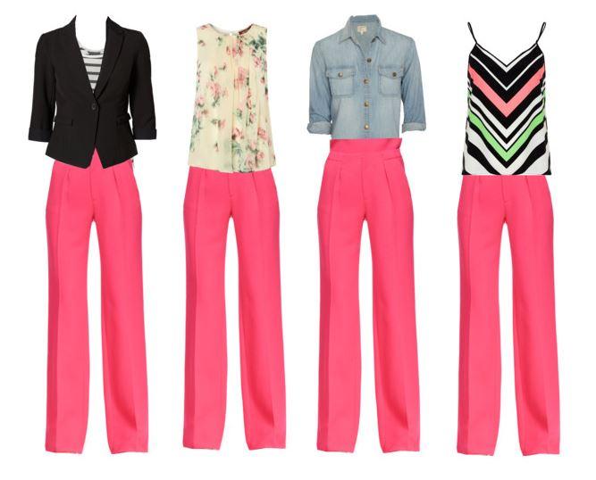 pink pants 4 ways