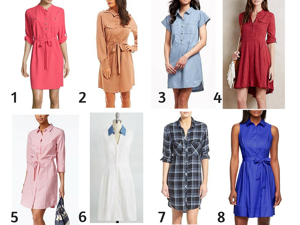 how to style a shirt dress options