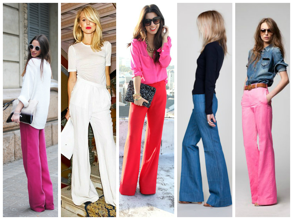 wide-legged pants collage