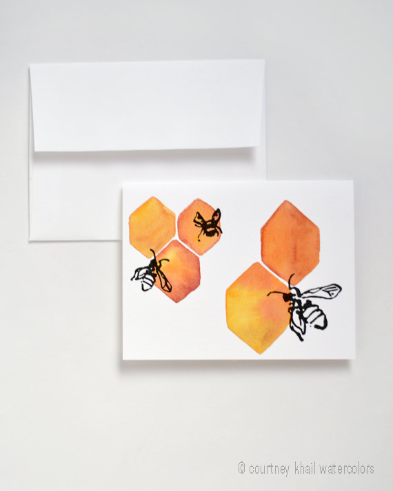 Courtney Khail Watercolors Card