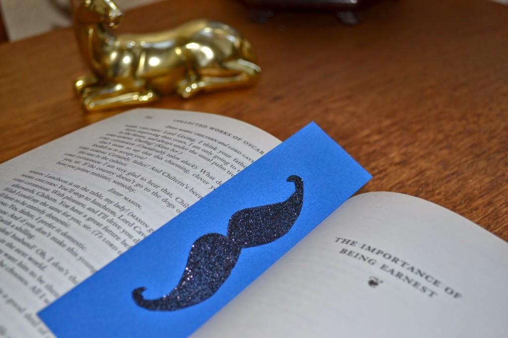 Glitter Bug Gift Boxes Mustache Bookmark