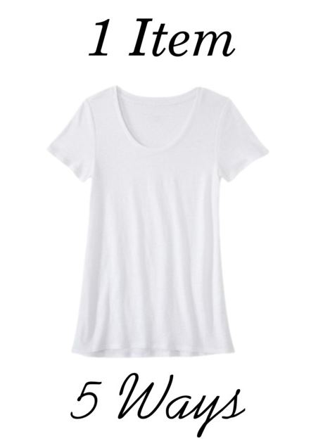 styling a white tee