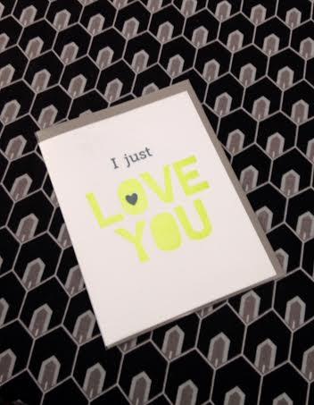 hairpin letterpress card