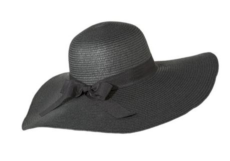Merona black floppy hat