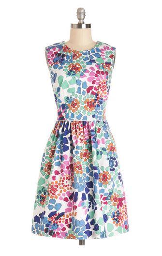 Watercolor Me Happy Dress