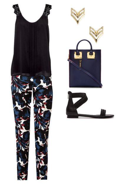 blue print pants