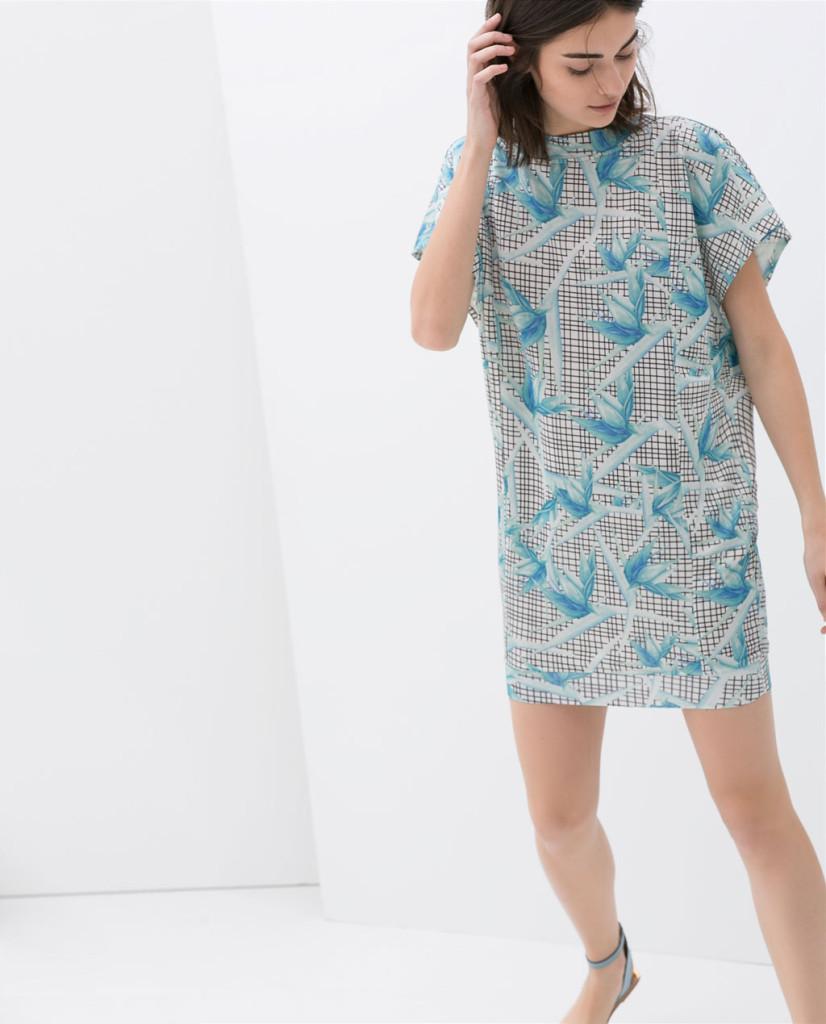 zara flower print dress 2