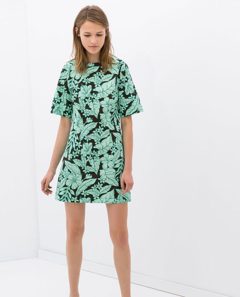 zara flower print dress