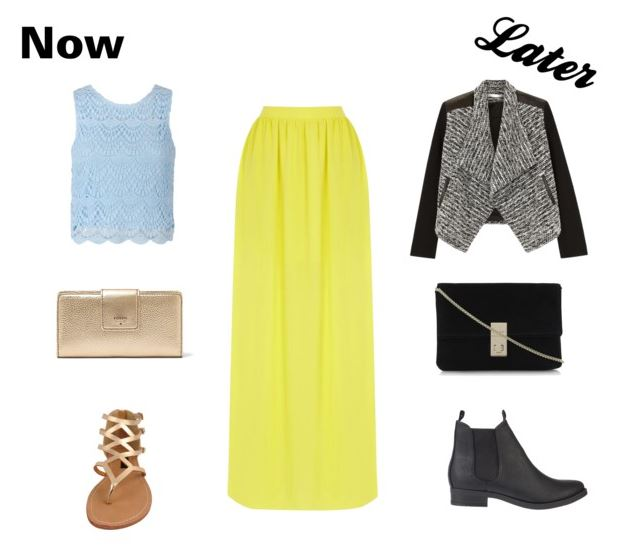yellow maxi skirt now and later
