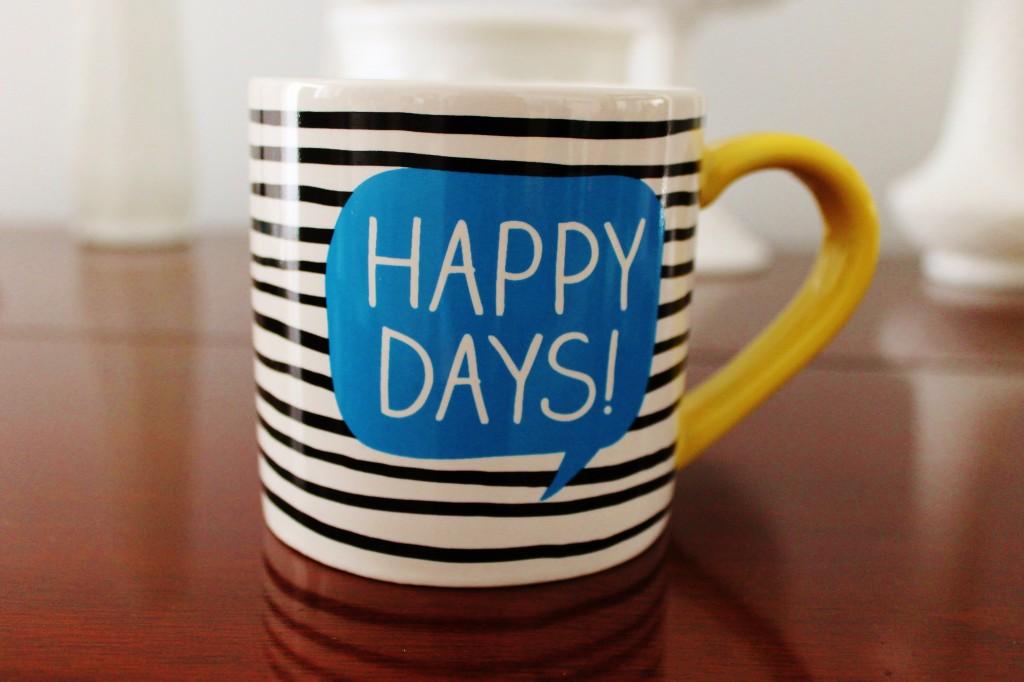 coco rocha fancy box happy days mug