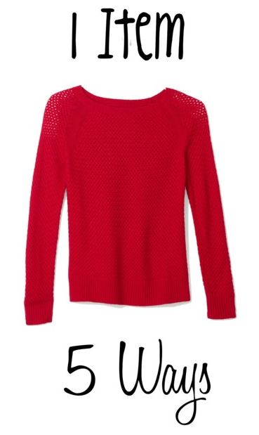 how to style a red sweater in five ways