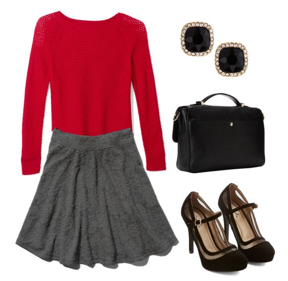 how to style a red sweater 1 1