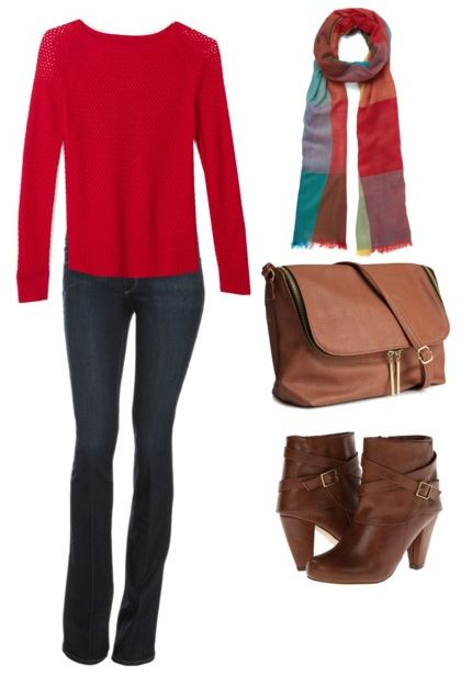 how to style a red sweater 2 1
