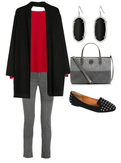 how to style a red sweater 3 1