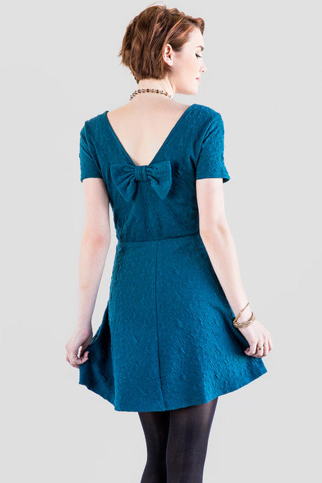 Alstyne Textured Bow Dress