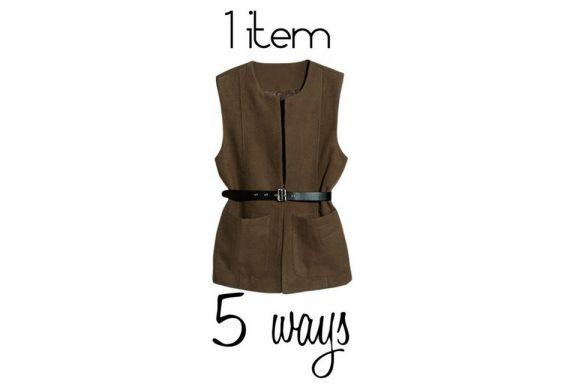 1 item 5 ways- vest