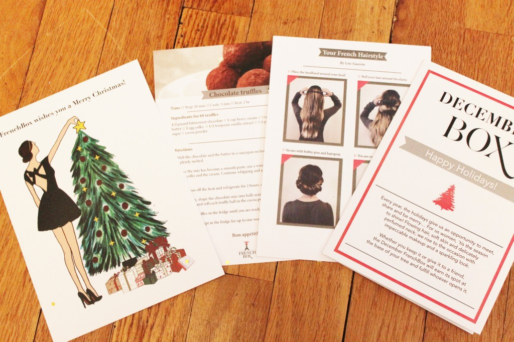 December 2014 French Box cards