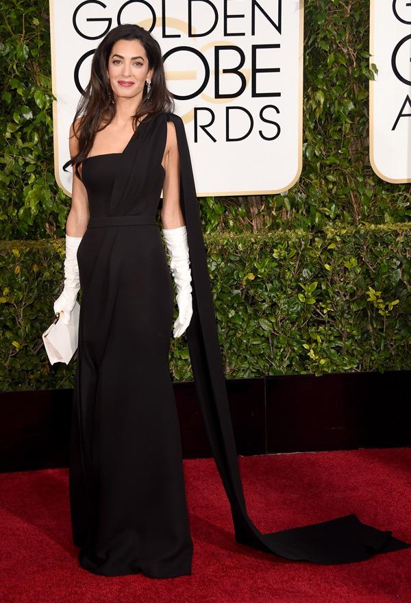 Amal Alamuddin Clooney Golden Globes 2015