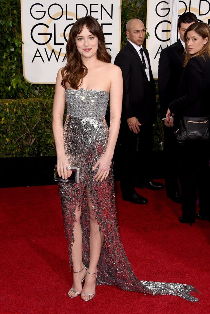 Dakota Johnson in Chanel Haute Couture Golden Globes 2015