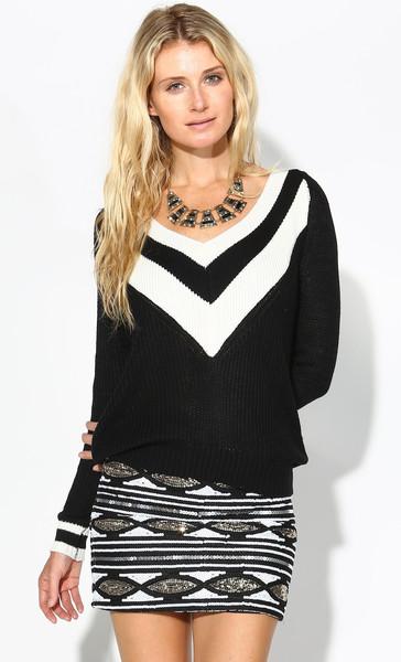 Knit Long-Sleeve Sweater, $32