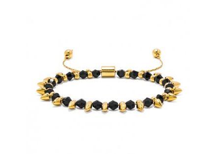 onyx spike pull bracelet