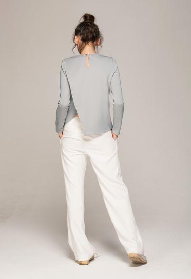long sleeve asymetrical top