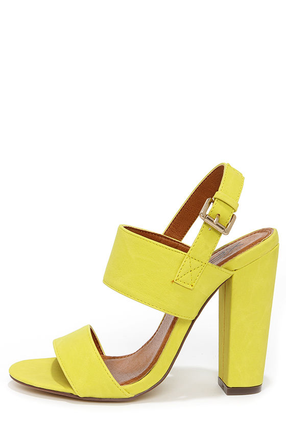 fay 1 lemon yellow shoes