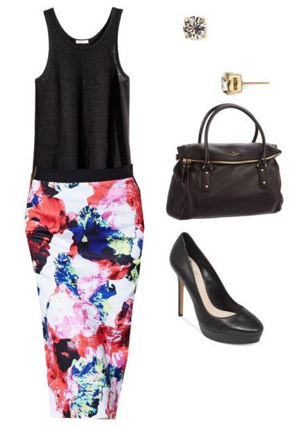floral skirt 1