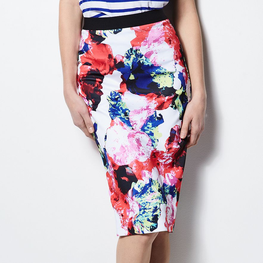 kohls floral skirt milly