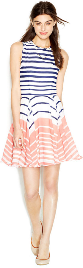 sleeves striped dress