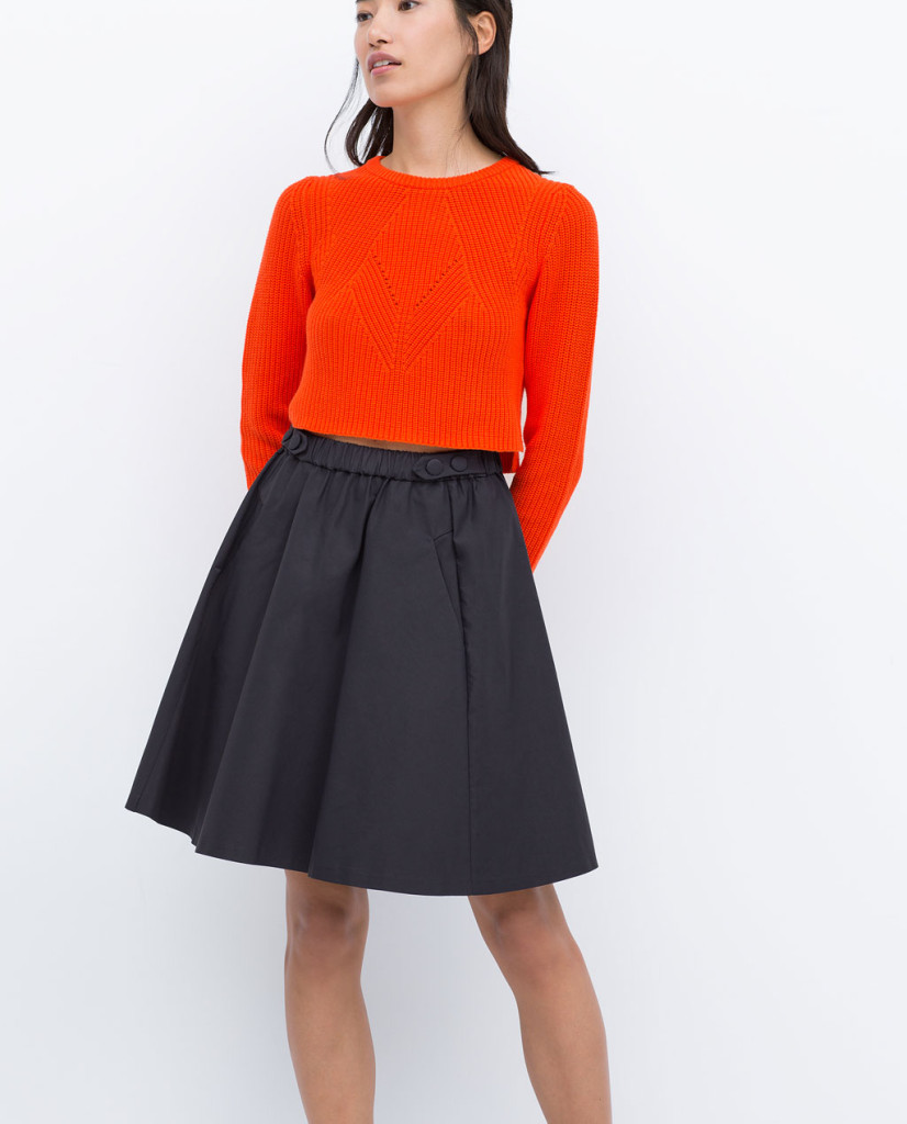 zara elastic full skirt