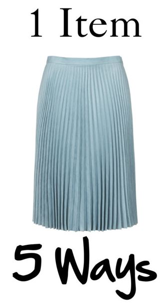 1 item 5 ways cover blue pleated skirt