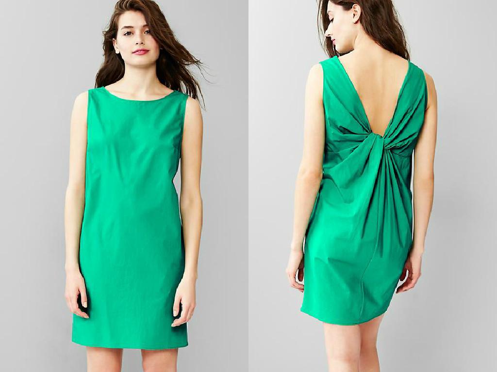gap twist back dress