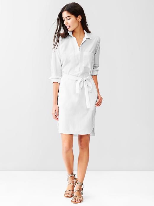 gap white shirt dress