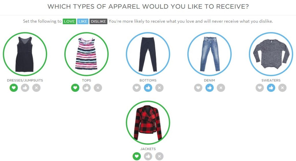 wantable what type of clothing