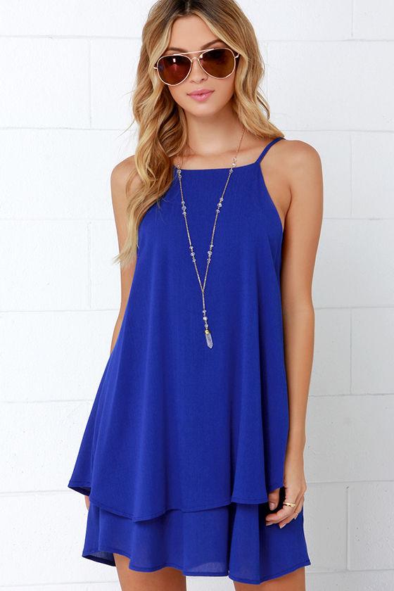 dee elle whimsical whim royal blue dress