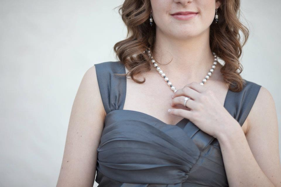 bridesmaid dresses and jewelry