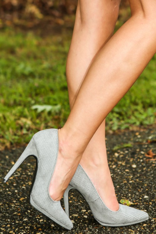 come on vogue! heels- ash grey