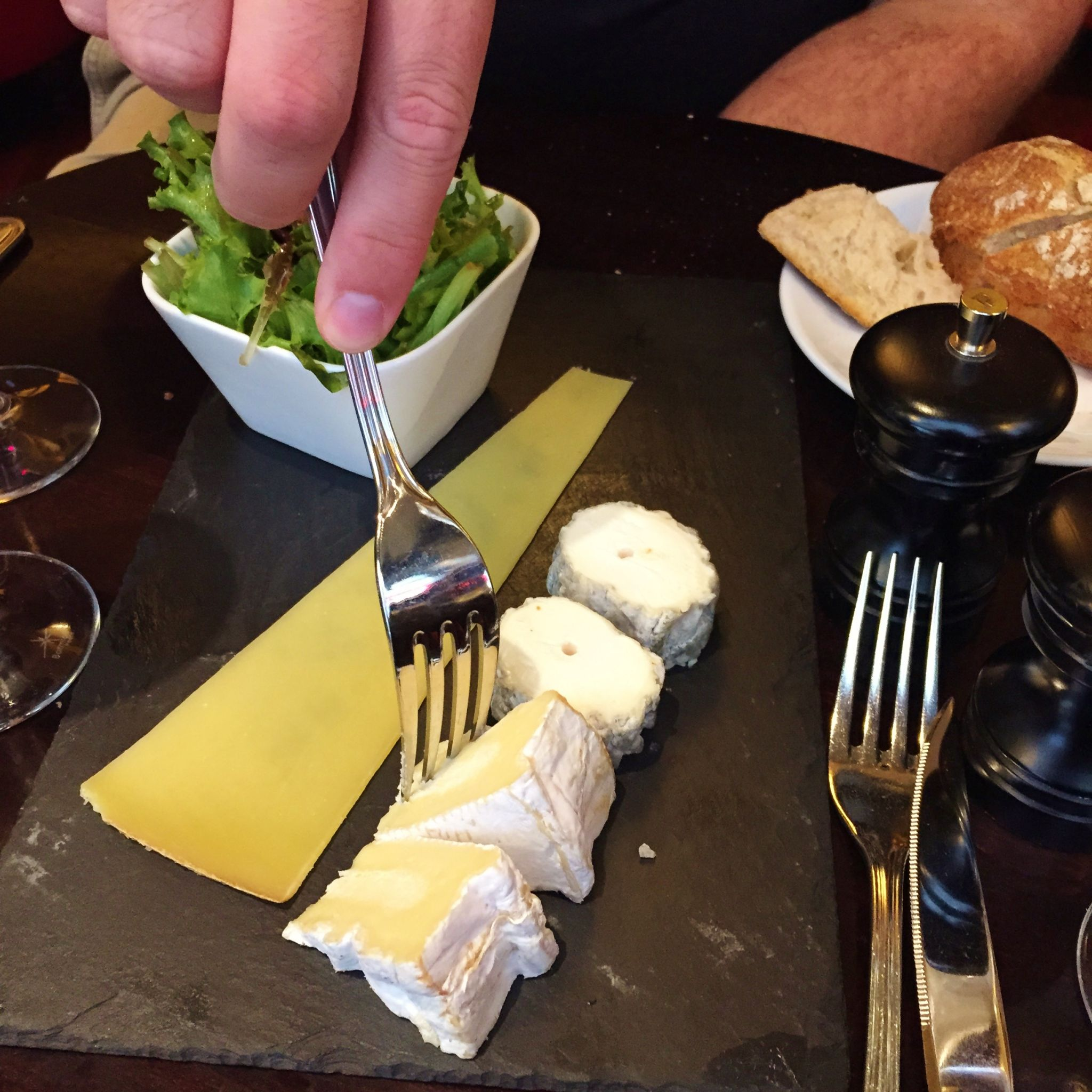 paris highlights day 2 lunch cheese