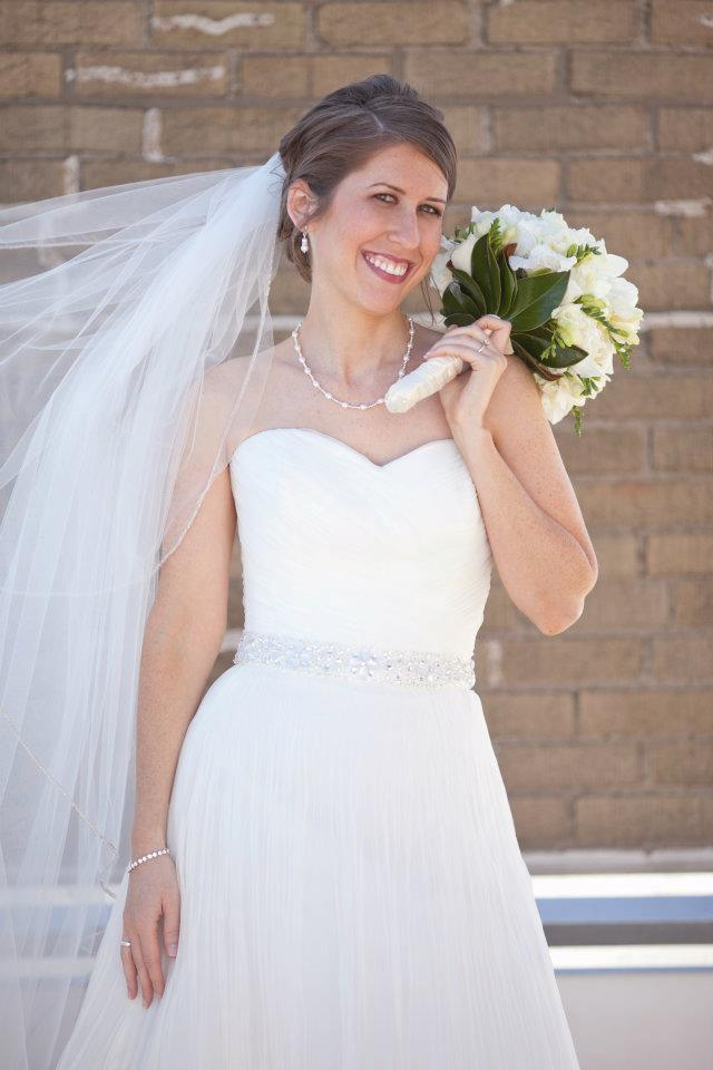 rachel in wedding dress 3
