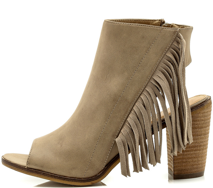 how to wear fringe booties