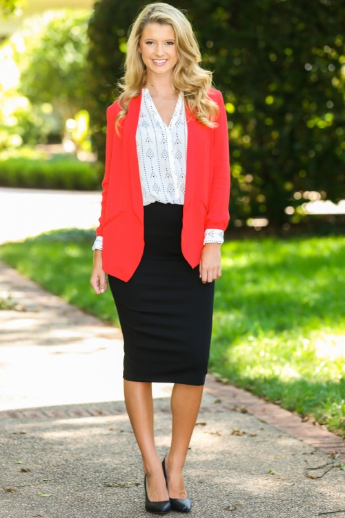something to blog about blazer - red