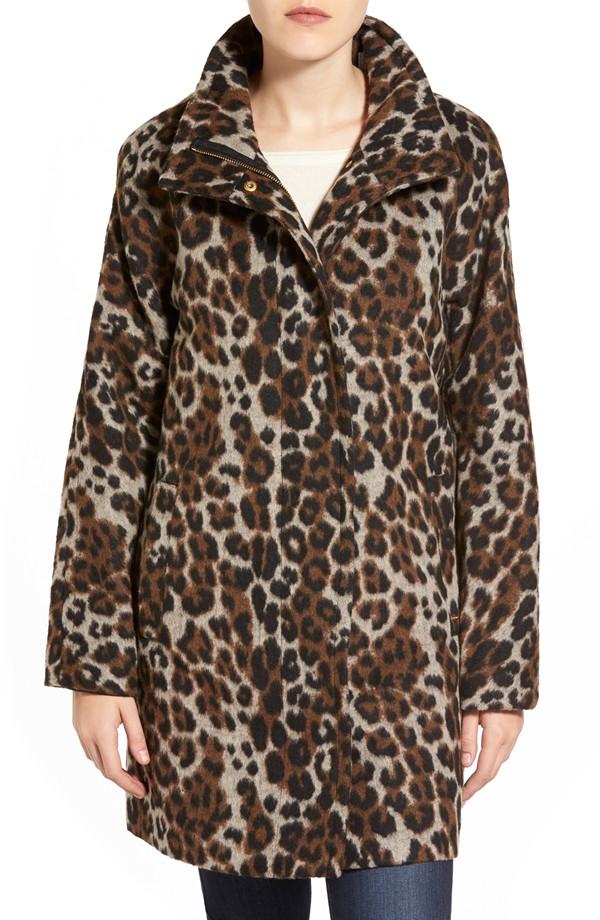 leopard coat nordstrom