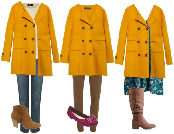 mustard coat styling