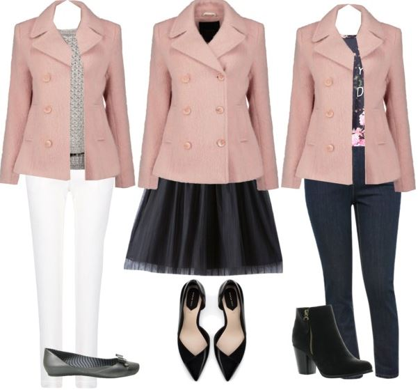 pink coat styling