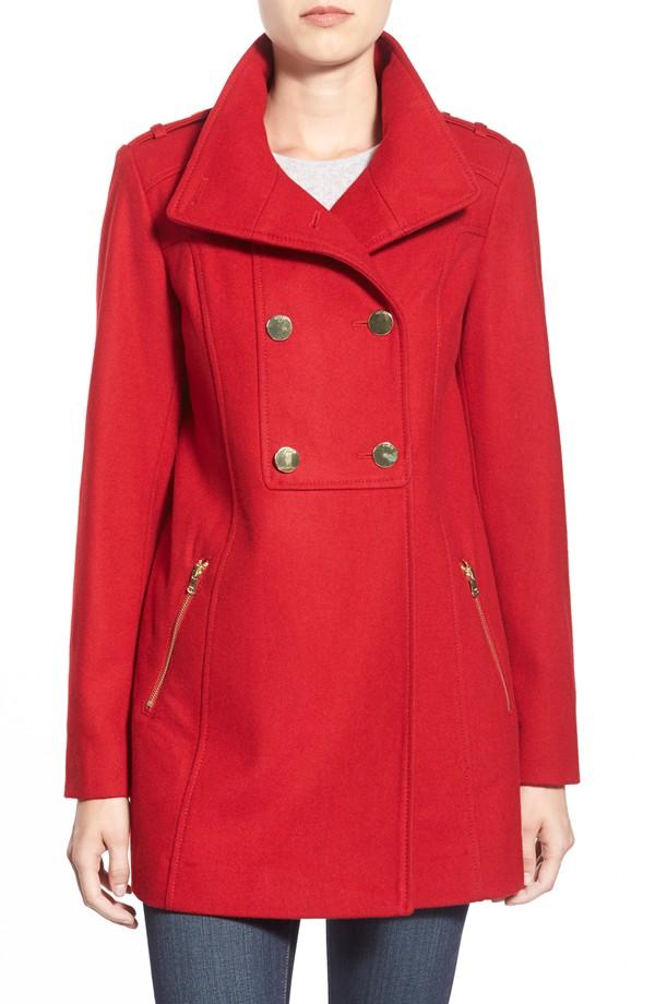 red nordstrom coat