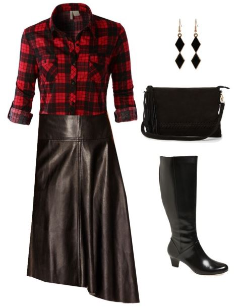 styling a leather skirt 3