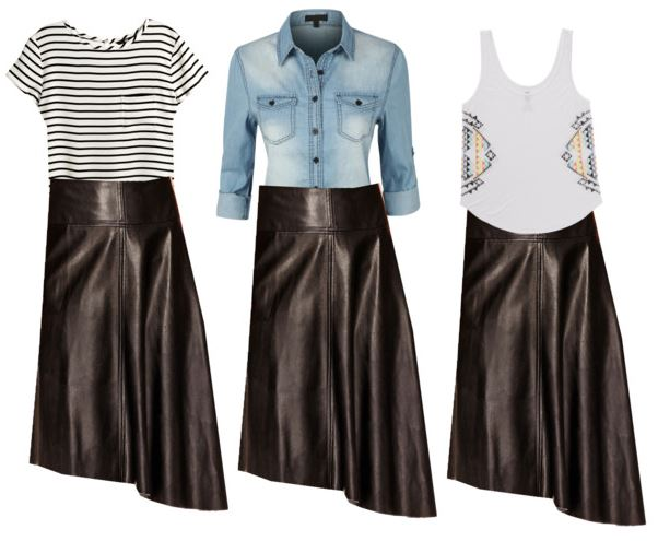 styling a leather skirt additional ways