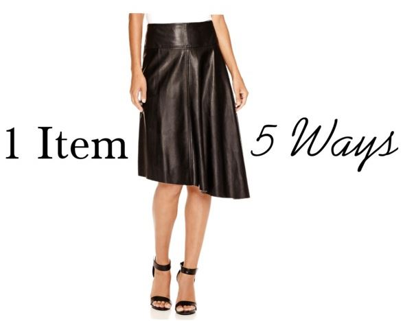 styling a leather skirt cover